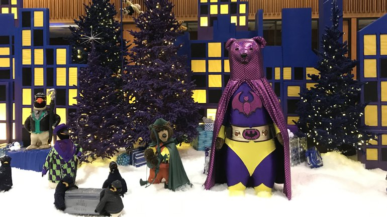 Bmo Harris Christmas Display 2020 A Super Duper Holiday:' Steiff animals superhero themed for 2019